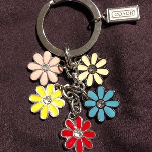 COACH keychain with daisys